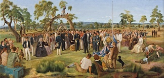 Charles Hill, The Proclamation of South Australia, 1836 (1856), Art Gallery of South Australia