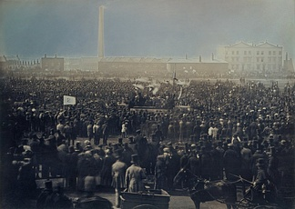 Photograph of the Great Chartist Meeting on Kennington Common, London, 1848