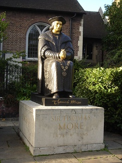 Thomas More statue, Chelsea Old Church
