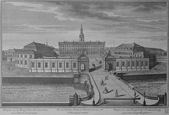 The first Christiansborg Palace in 1746