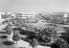 """White Tel Aviv"", Dizengoff Circle, by Genia Averbouch, 1934"