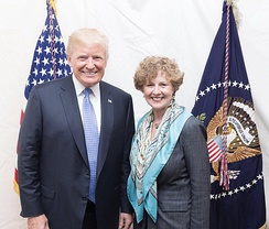 Brooks with President Donald Trump