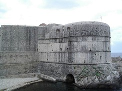 Fort Bokar was built as a two-story casemate fortress, standing in front of the medieval Walls of Dubrovnik in Croatia.