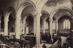 An 1890 photograph of the Gallilee Chapel