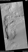 Wide view of dipping layers, upper plains unit, and brain terrain, as seen by HiRISE under HiWish program