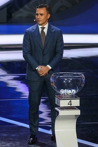 Italian World Cup winner Fabio Cannavaro in Moscow at the 2018 World Cup draw