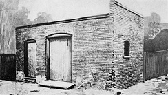 The coal shed on Bagley Street, Detroit where Henry Ford built his first car in 1896.
