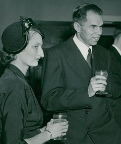 Helen and Glenn Seaborg in Stockholm in 1951