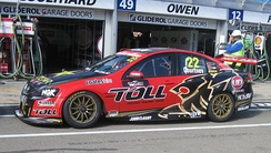 The Holden VE Commodore of James Courtney (Holden Racing Team) at the 2012 Clipsal 500 Adelaide