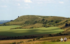 Viewed from The Ridgeway: eastern trailhead on Ivinghoe Beacon