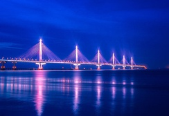 The Jiashao Bridge with six consecutive cable-stayed spans
