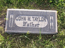 Grave marker of John W. Taylor.