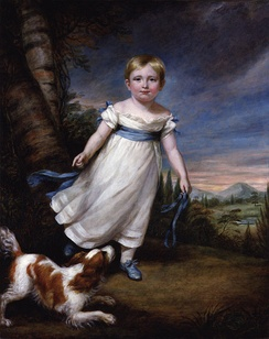 Ruskin as a young child, painted by James Northcote.