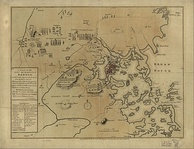 1775 map of the Battles of Lexington and Concord and the Siege of Boston