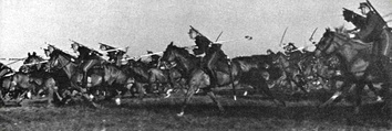 Lithuanian lancers training in the 1930s