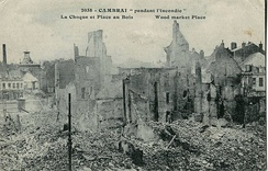 Ruins of the town centre, in 1917