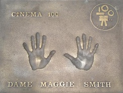 Smith's handprints in Leicester Square in West End of London