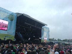 The Main Stage on the Saturday of Oxegen 2006