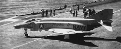 An F4H-1F aboard Independence, April 1960