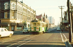 Melbourne Tram system in 1979. Melbourne remained the only city to operate a tram network in Australia through the 1970s.