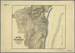 Map of Cape Girardeau and vicinity, showing location of its forts (September 1865).