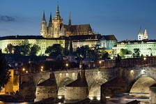 Prague Castle, the ancient seat of Bohemian dukes and kings, Roman kings and emperors, and after 1918 the office of the Czechoslovak and Czech presidents