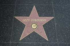 Osbourne's star at the Hollywood Walk of Fame in Los Angeles 27 April 2012