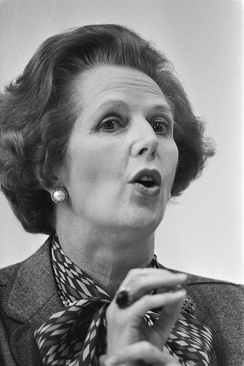 Margaret Thatcher (pictured in 1983) was Prime Minister of the United Kingdom from 1979 to 1990