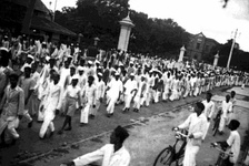 Procession in Bangalore during the Quit India Movement.