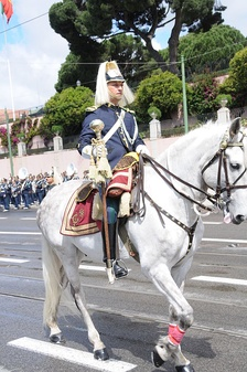 A cavalryman of the National Republican Guard's honor guard