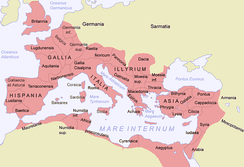 Roman Syria in 125 AD. Roman sovereignty of Syria ceased passed the Euphrates River.