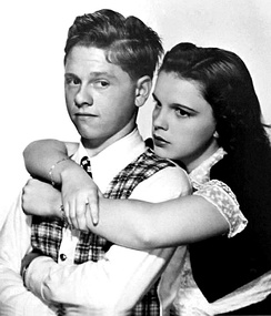 Mickey Rooney and Judy Garland in Love Finds Andy Hardy, 1938