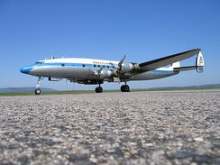 Super Constellation (C-121C) during pilot training in Epinal — Mirecourt, France