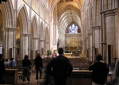 Southwark Cathedral, where Ferrier's memorial service was held on 14 November 1953