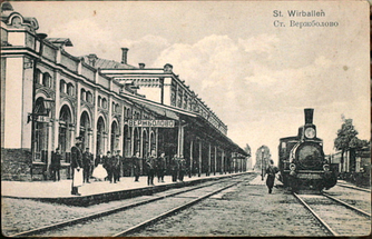 Verzhbolovo Railway Station in Kybartai at about 1900