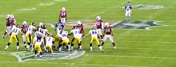 The Cardinals playing against the Pittsburgh Steelers in the Super Bowl
