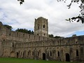 Exterior of Fountains Abbey, with focus on tower