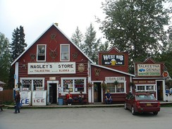 Nagley's Store. The Nagley family are pioneer residents of Talkeetna. They were also partners in the Westward Hotel in Anchorage, a predecessor to today's Hilton Anchorage Hotel.