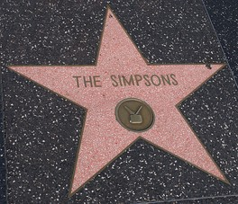 The Simpsons has been awarded a star on the Hollywood Walk of Fame.