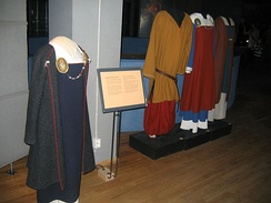 Norse clothes in the Swedish Museum of National Antiquities in Stockholm