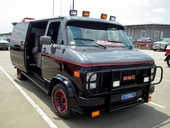 1983 GMC Vandura customized to match the appearance of the A-Team van