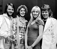 The Swedish band ABBA in April 1974, a few days after they won the Eurovision Song Contest