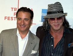 Andy García and Rourke at the 2009 Tribeca Film Festival.