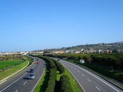 The A20 Messina-Palermo motorway near Torregrotta
