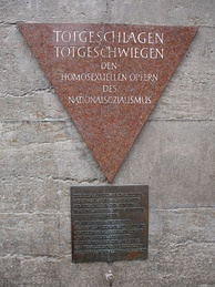 Homophobia: Berlin memorial to homosexual victims of the Holocaust: Totgeschlagen – Totgeschwiegen (Struck Dead – Hushed Up)