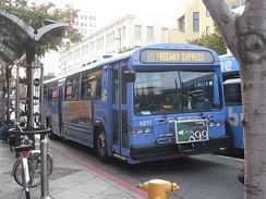 Big Blue Bus Line 10 departing Santa Monica