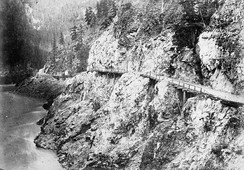 A portion of the Cariboo Road just above Yale, circa 1867–1868
