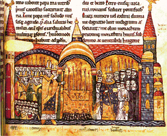 The Consecration of Cluny III by Pope Urban II, 12th century (Bibliothèque Nationale de France).