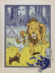 Dorothy meets the Cowardly Lion, from the first edition of The Wonderful Wizard of Oz