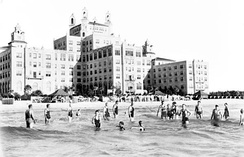 People at the newly opened Don Cesar Hotel in St. Pete Beach, Florida in 1928